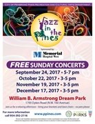 FREE Jazz in the Pines  FALL 2017 Schedule