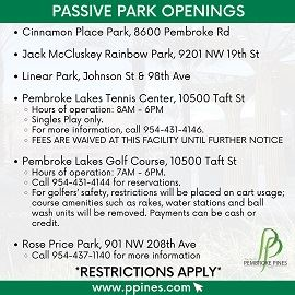 passive park openings