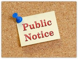 Postings/Public Notices