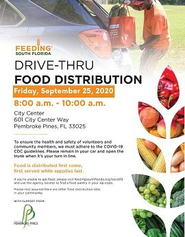 9-25 food distribution