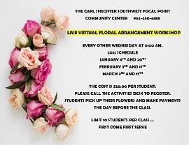 Virtual Floral Arrangement Workshop