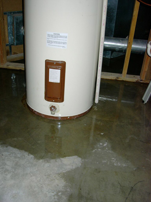 Hot Water Heater Leak