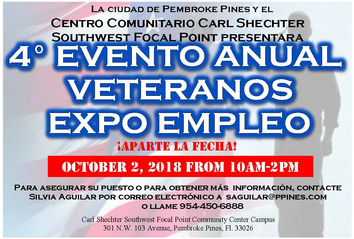 2017 vet job fair save date POSTCARDS SPANISH use this one per SA