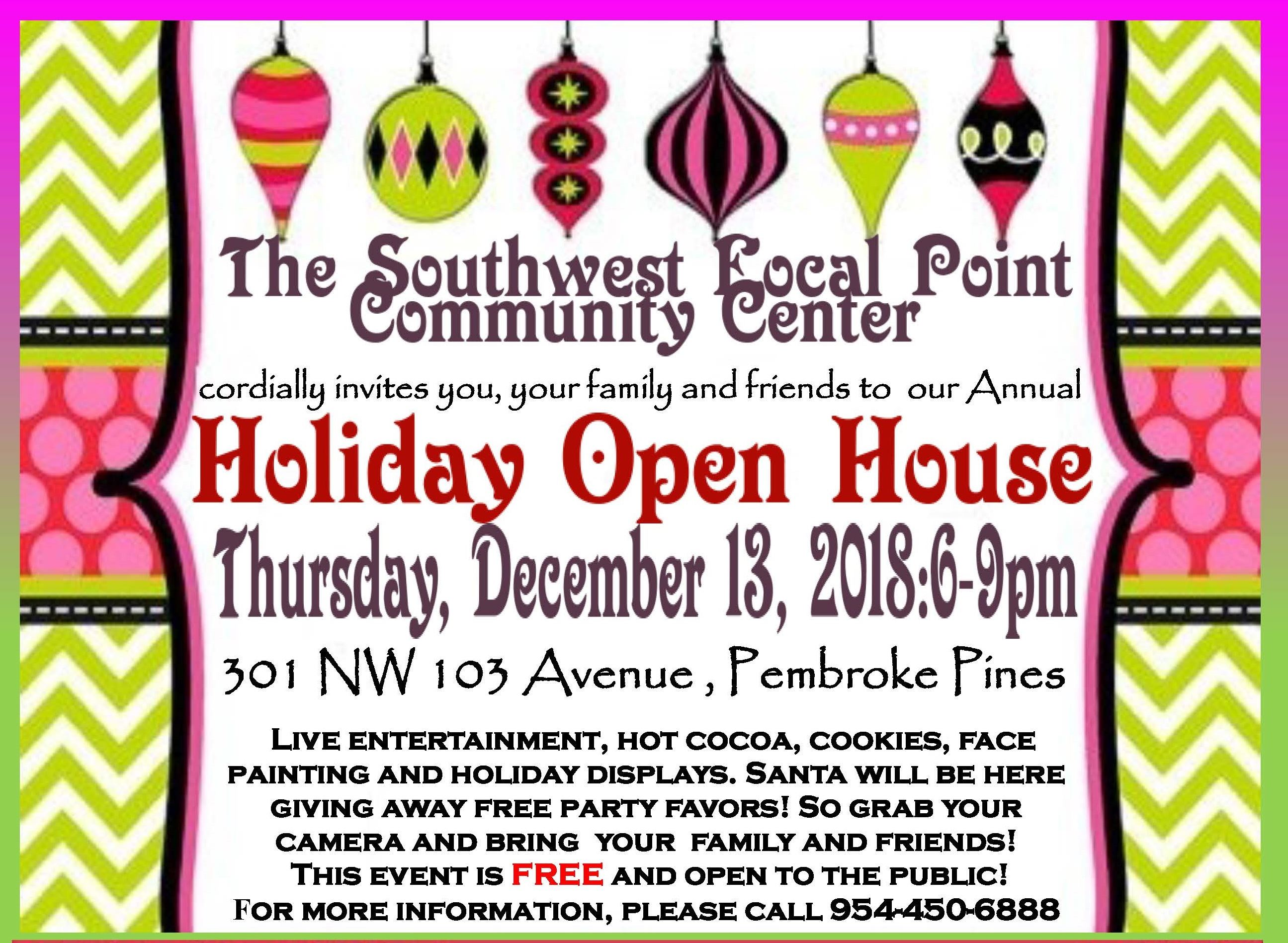 HOLIDAY OPEN HOUSE POSTER option (6) English only