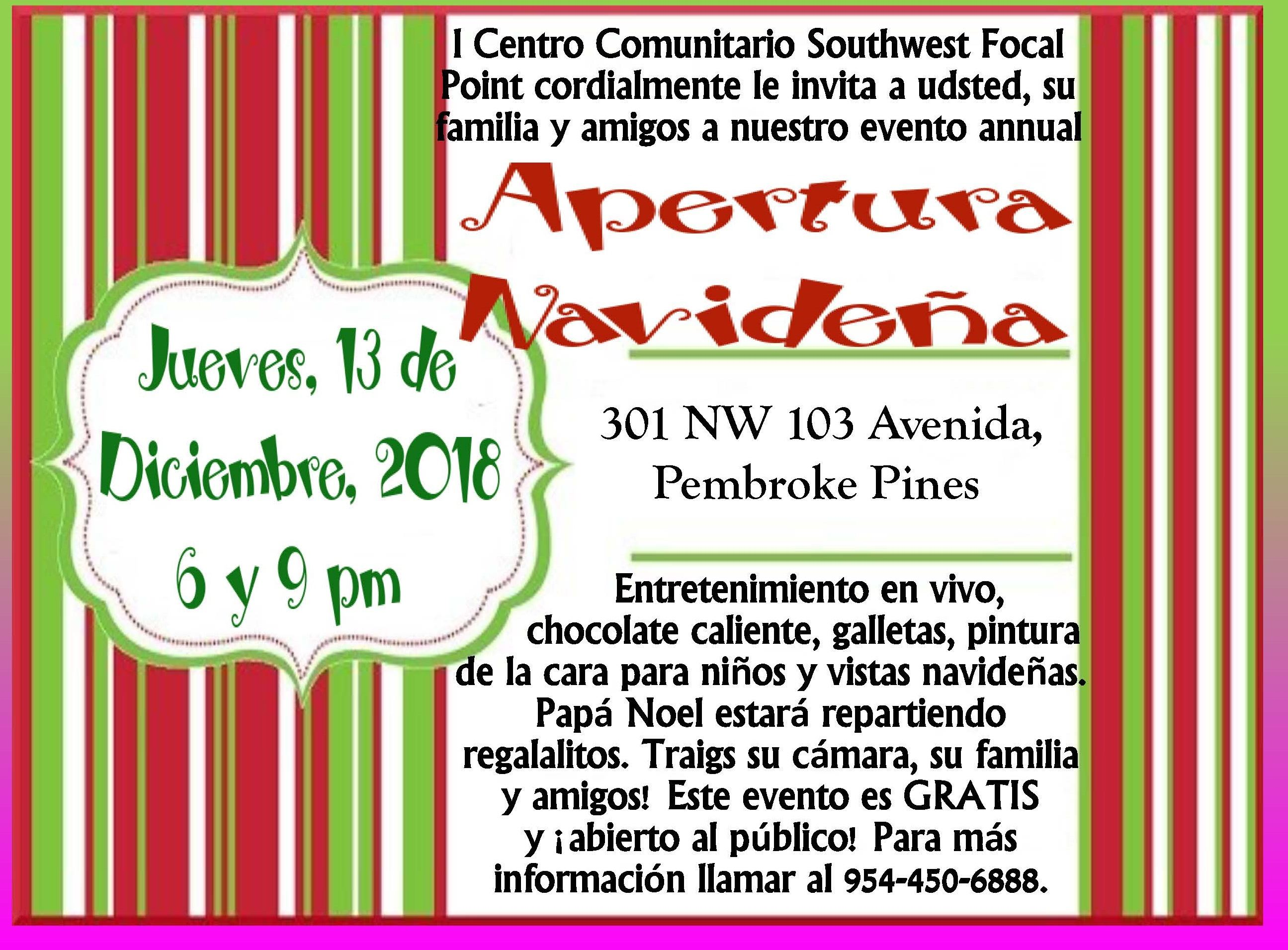 HOLIDAY OPEN HOUSE POSTER option (6) Spanish only