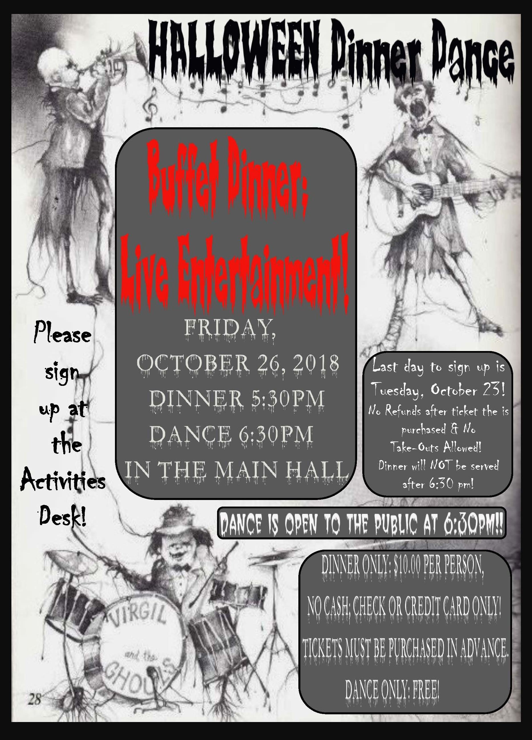 HALLOWEEN DINNER DANCE POSTER english only 10-26-18