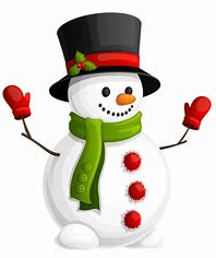 picture of a snowman with top hat and scarf