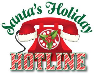 Santas-Holiday-Hotline-logo of holiday phone