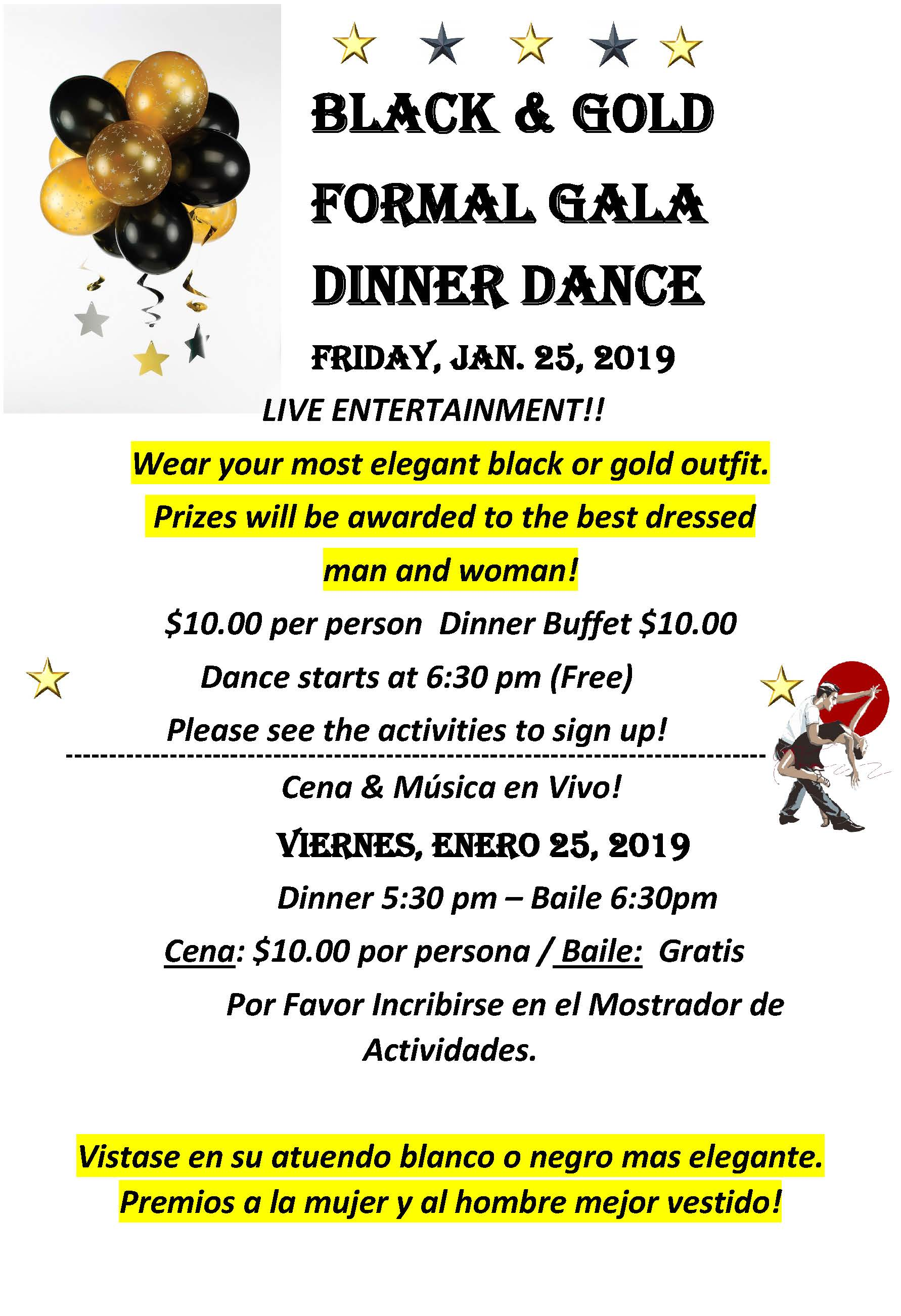 Black and  Gold dinner 1-25-19