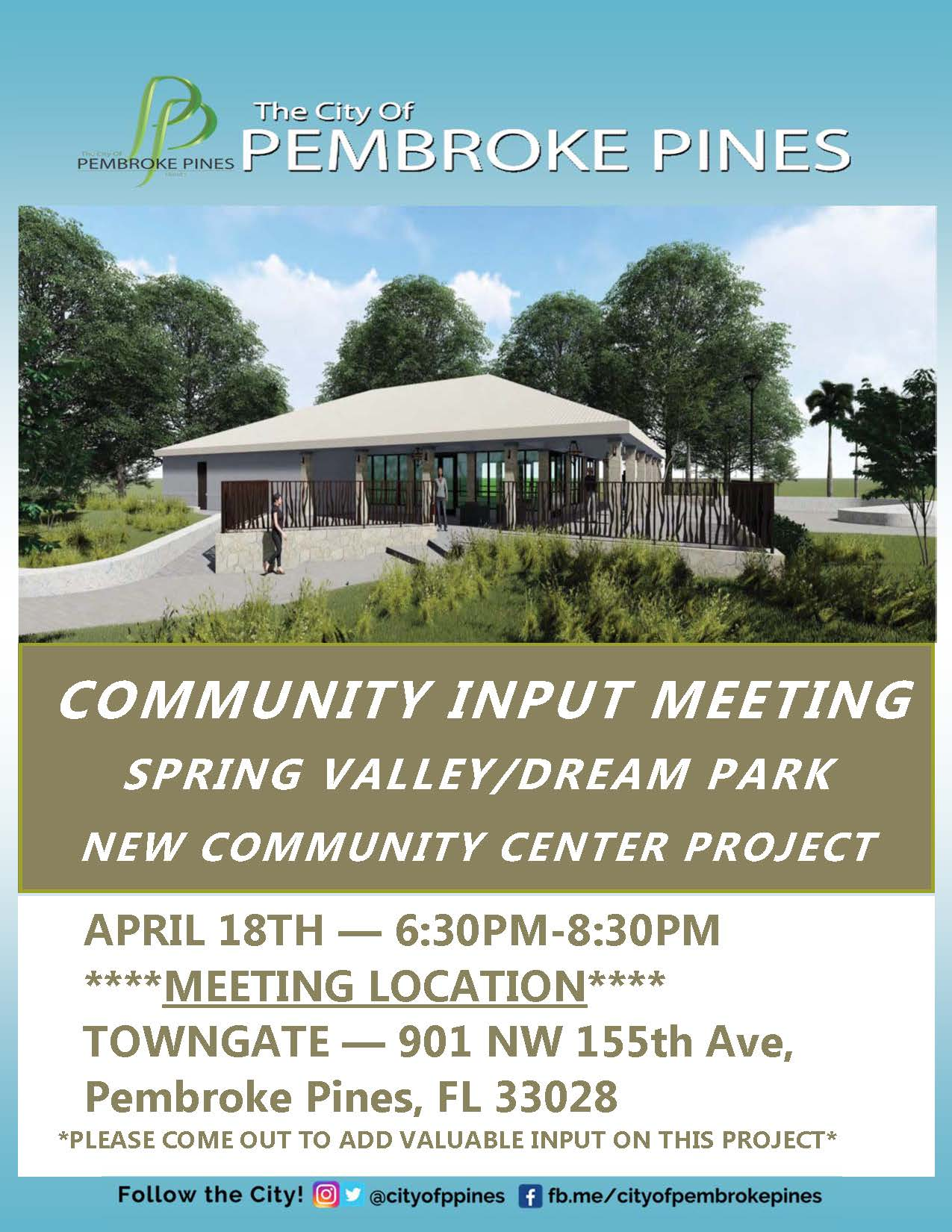 Spring Valley Project - Community Meeting Flyer - Updated