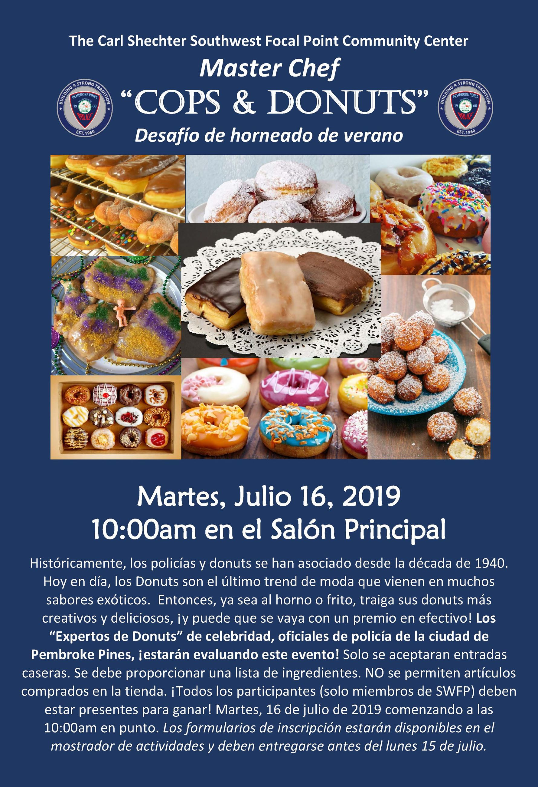 Master Chef Cops Donuts  13x19 Flyer 2019 (SPAN)