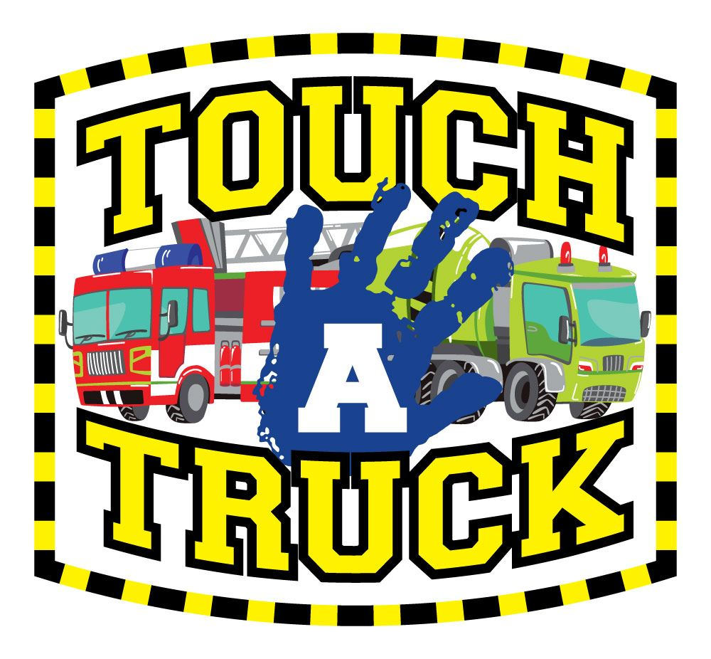 Touch-A-Truck- logo 2019 with trucks and hand