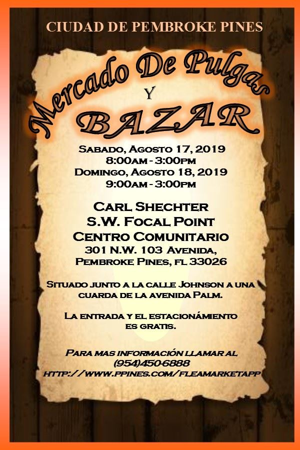 AUGUST 2019 FLEA MARKET & BAZAAR SPANISH