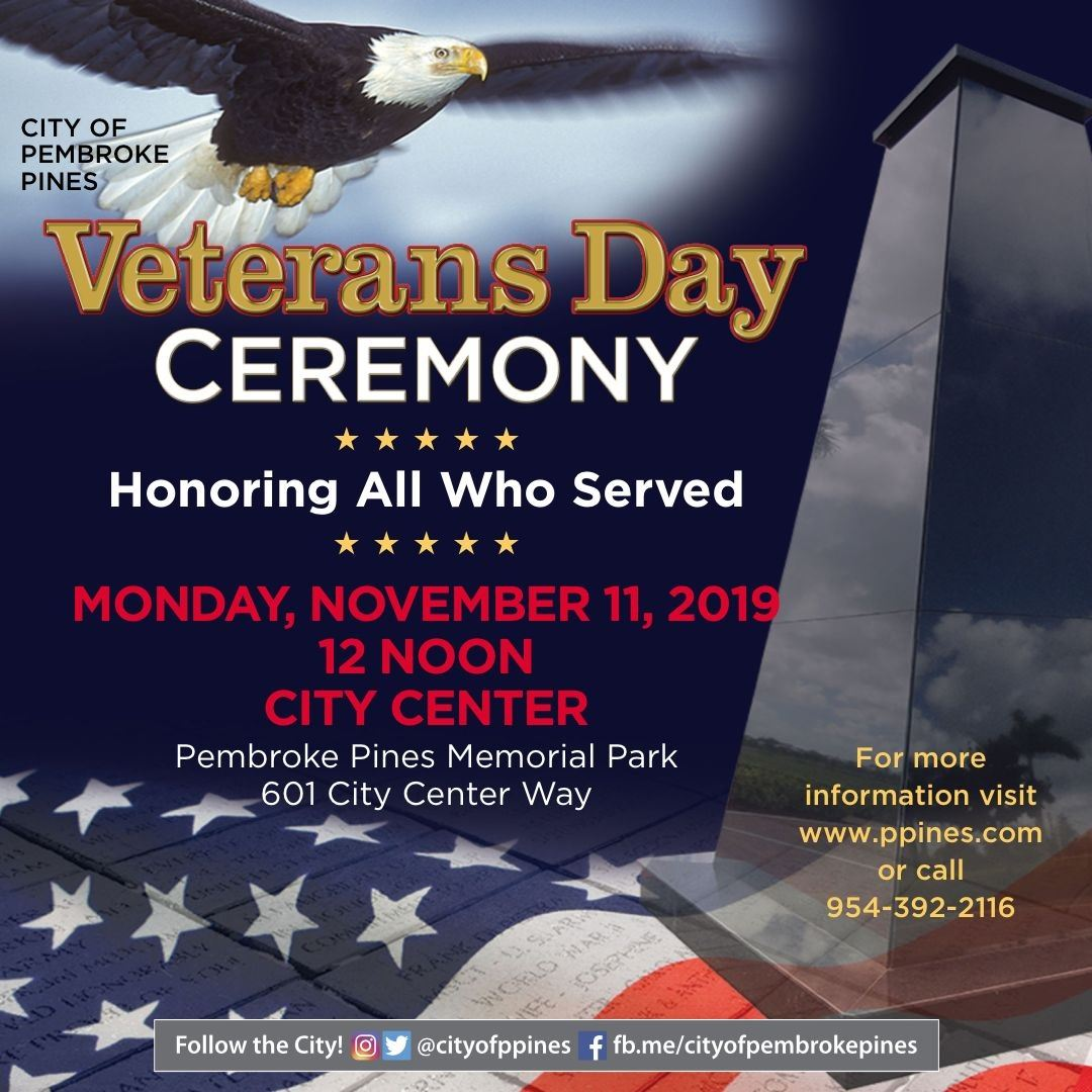 PP Veterans Day poster
