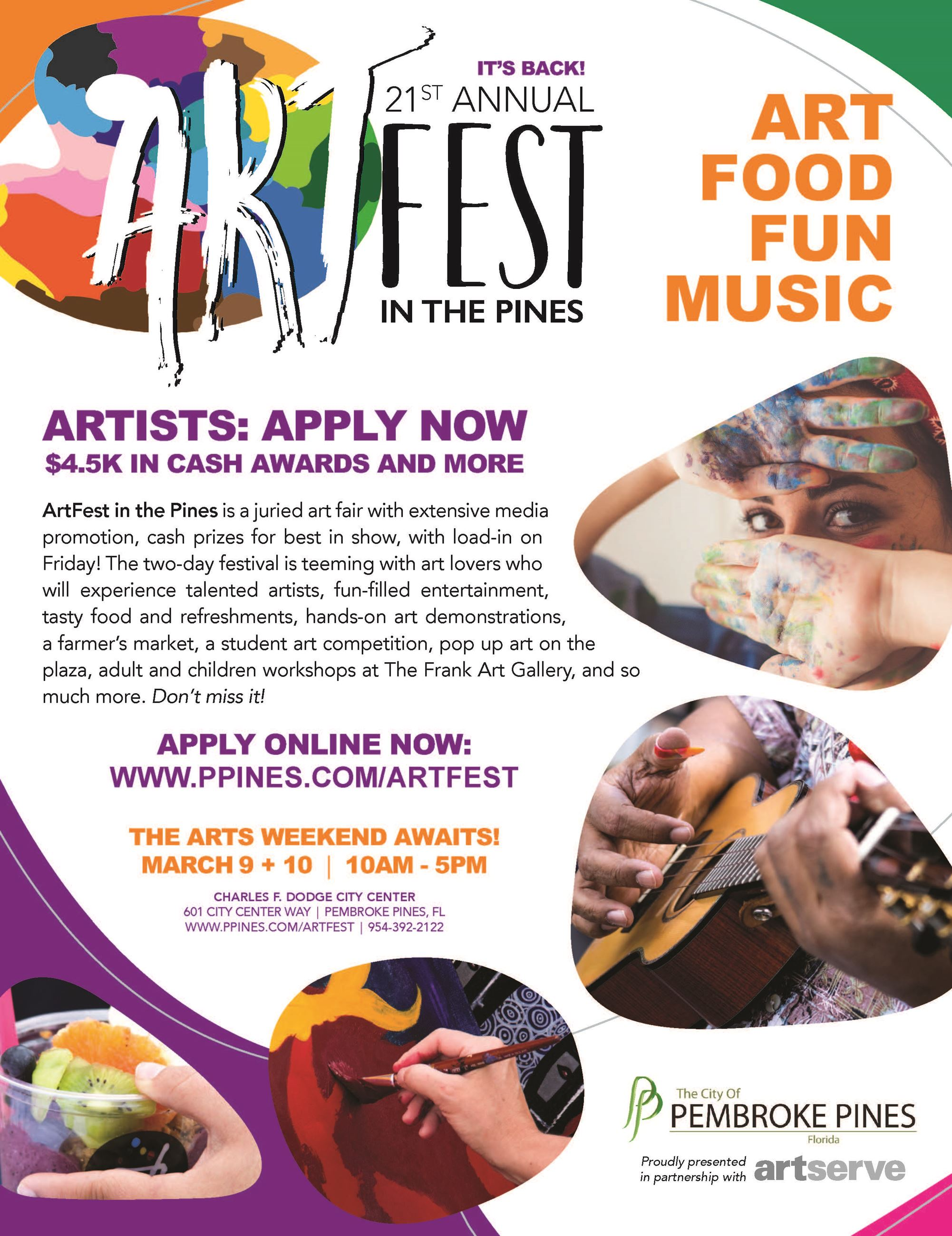 ArtFest CALL FLYER 2019 to encourage artists to participate and how