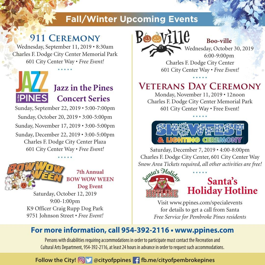 Fall Winter Events Poster