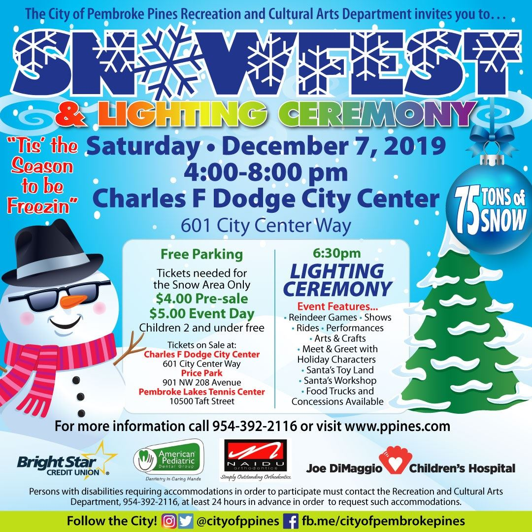 Snowfest-2019 Poster with details of event