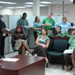 Business safety presentation to bank employees