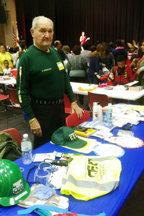 CERT table with Volunteer Cy Mermelstein