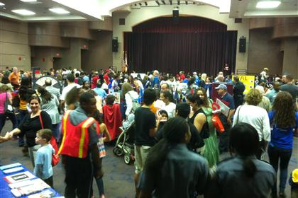 Inside event at Walter C. Young Middle School