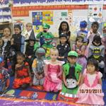 Children dressed in costumes