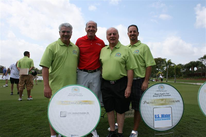 Mayor at Golf Tournament
